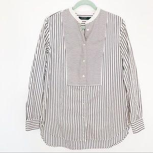 Lauren Ralph Lauren Long Stripe Shirt Sz XL